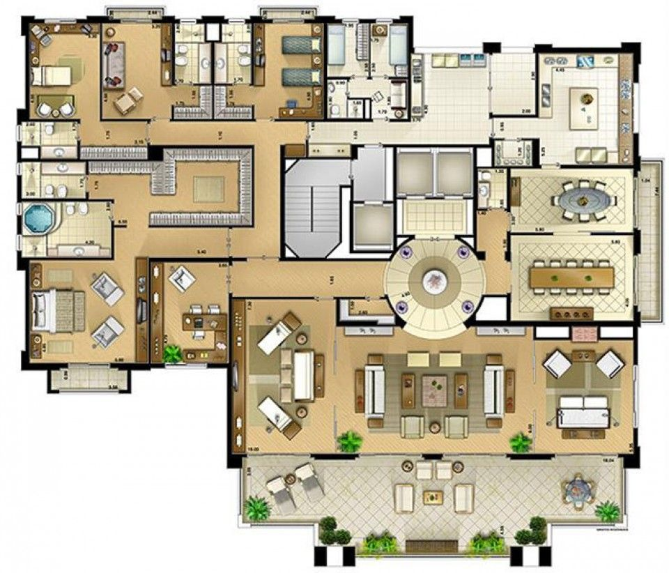 On the park 607m panamby s o paulo floor plans for Plantas arquitectonicas de casas