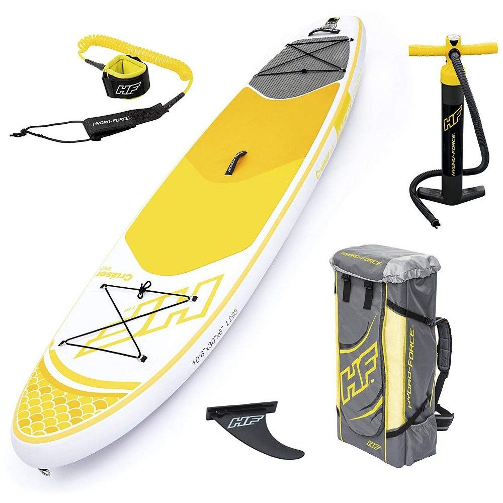 Bestway Hydro Force Inflatable 10 Foot Cruiser Tech Sup Stand Up Paddle Board In 2020 Paddle Surfing Standup Paddle Paddle Boarding