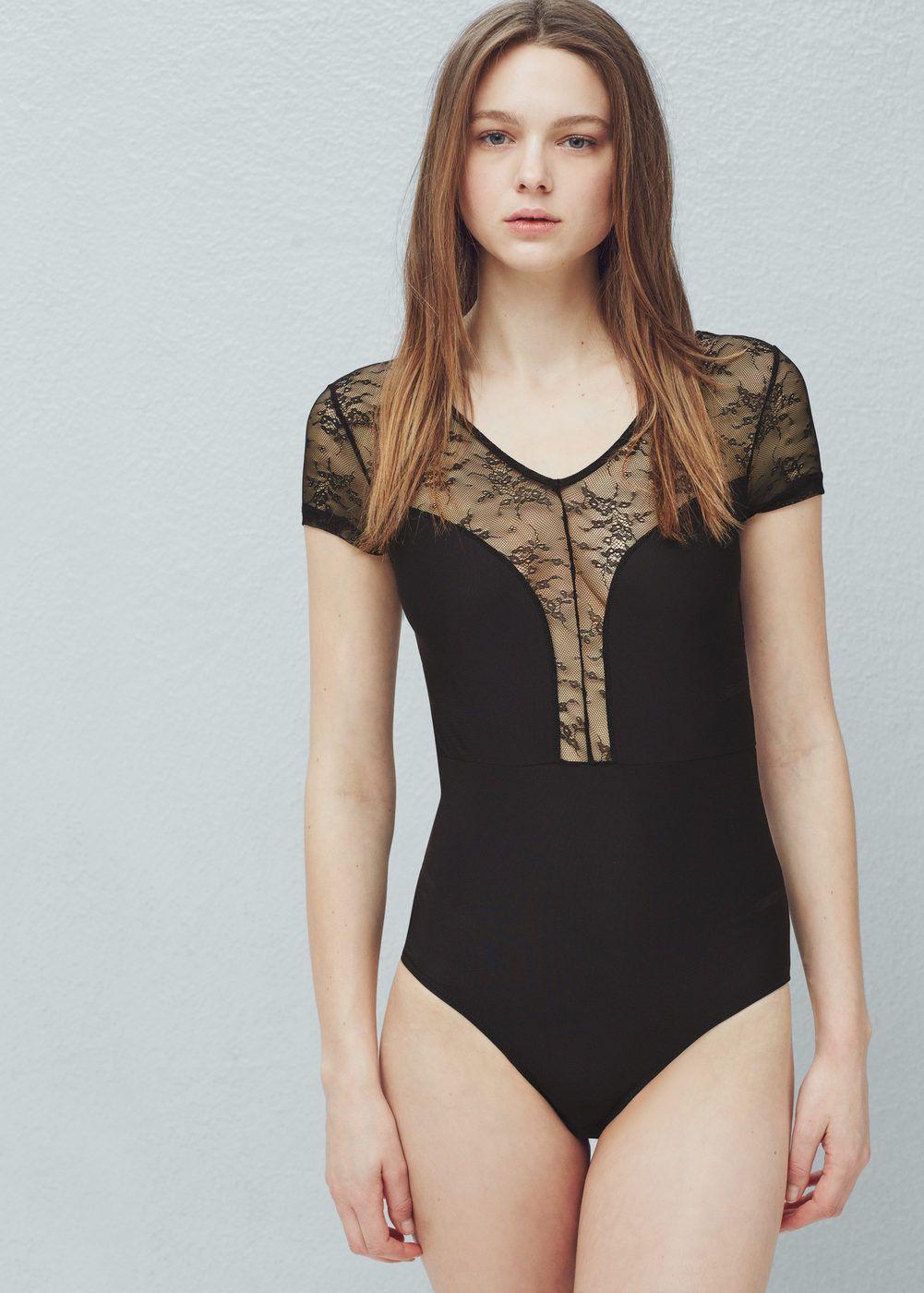 Body microfibra encaje mujer body blusas y ropa interior for Japonesas en ropa interior