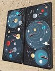2 EL GATO GOMEZ PAINTINGS RETRO SCIFI SCI-FI OUTER SPACE FLYING SAUCERS ROBOTS