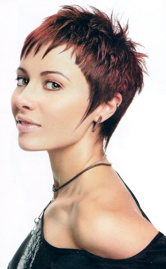 image result for extremely short hairstyles for round faces