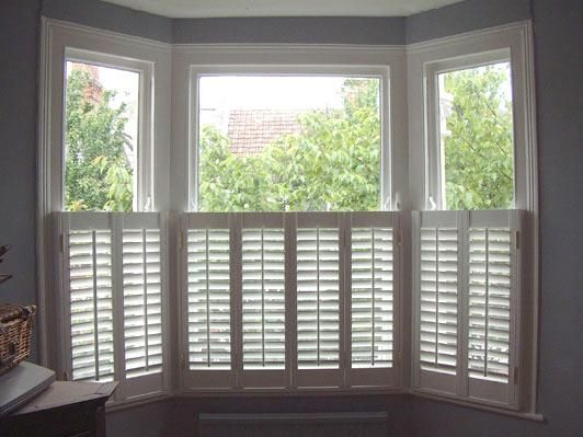 Shutters In A Victorian London Bay Window Decorating