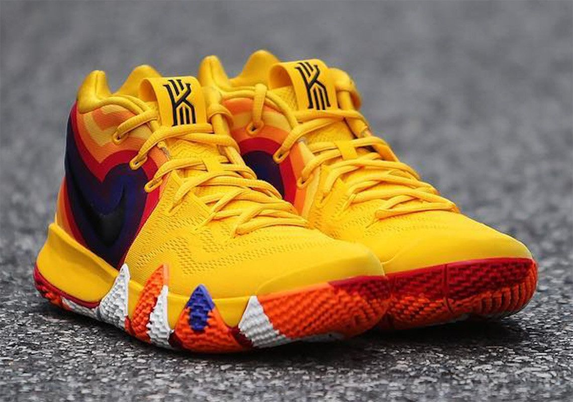 super popular 1b5dd 4d474 Check Out This Retro-Themed Nike Kyrie 4 | Footwear in 2019 ...