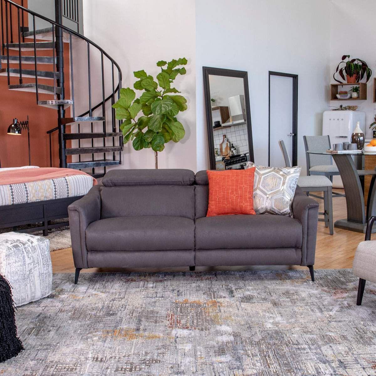 Dax Sofa Loveseat In Charcoal Jerome S Furniture Furniture