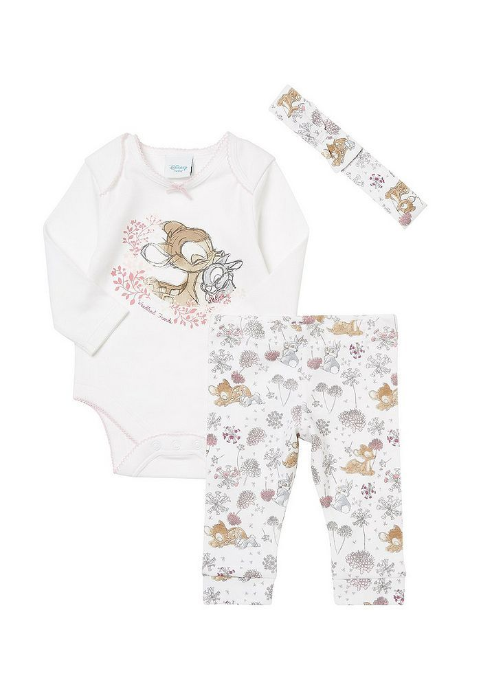 eb5b5f2bef67 Tesco direct  Disney Baby Bambi 3 Piece Bodysuit