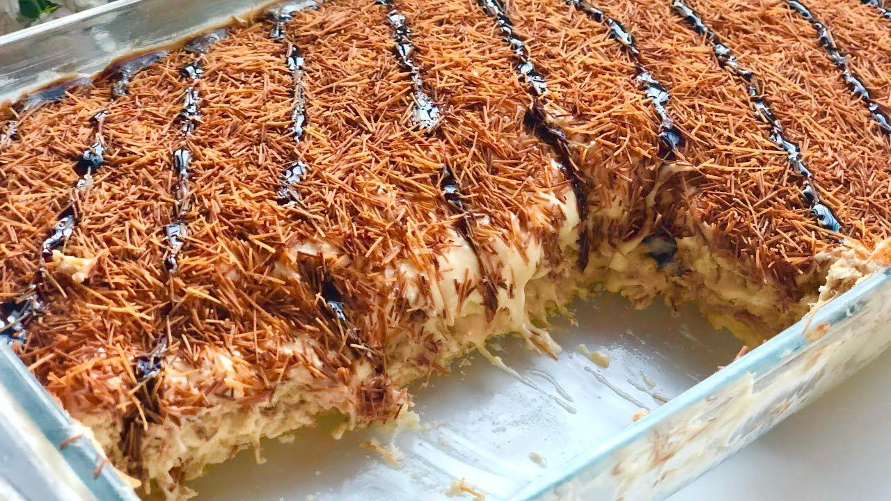 حلا الخشخش لذاذة لا تنتهي بالشعيرية الباكستانيه Cold Layered Dessert Youtube Food Desserts Brownie