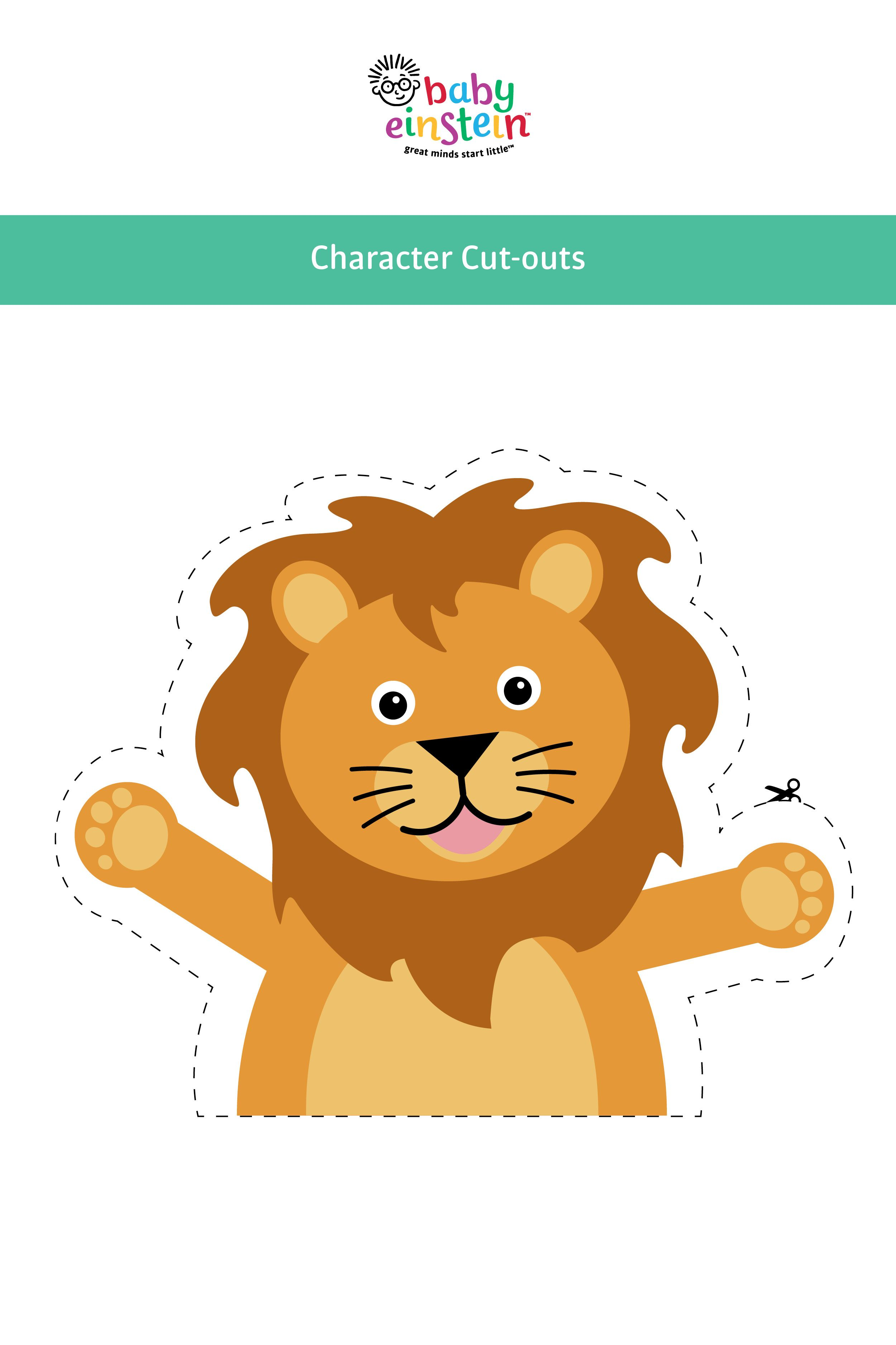 Get Your Baby Einstein Character Cut Outs Use Them To Make Adorable Themed Goobags For Your