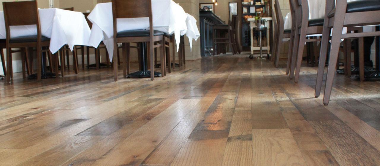 Reclaimed Antique Rustic Oak Wide Plank Solid Wood Flooring