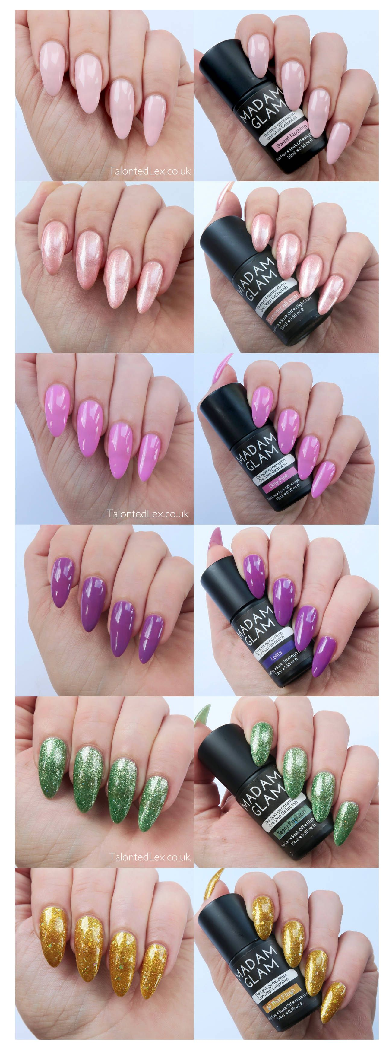 Madam Glam One Step Gels Review