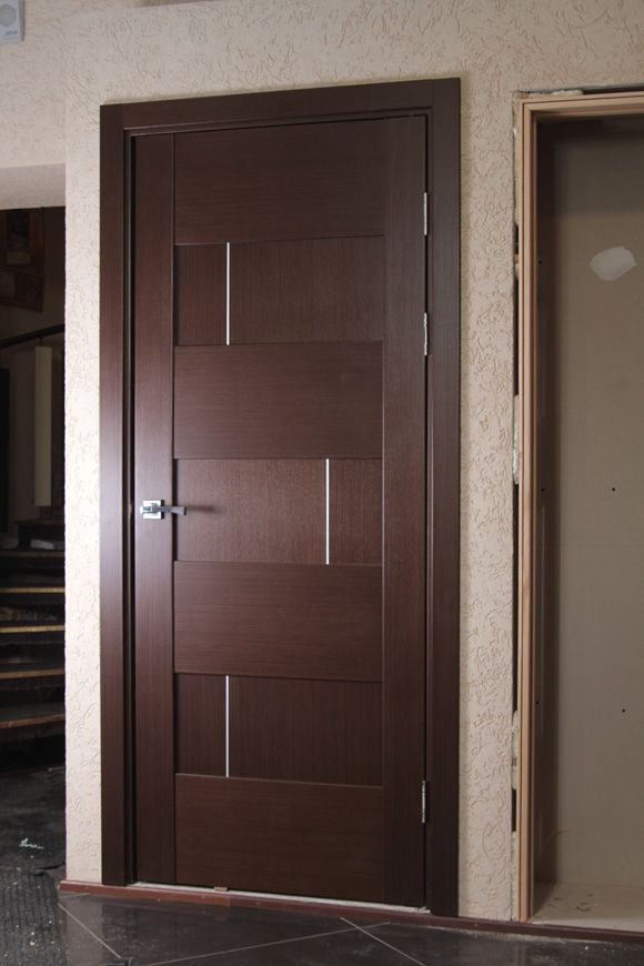 "20 Best Modern Door Designs From Wood: ""Dominika"" Wenge Oak Modern Interior Door …"