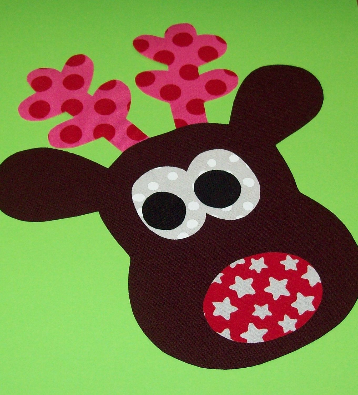 Fabric Applique TEMPLATE Pattern ONLY Zainey Reindeer....New