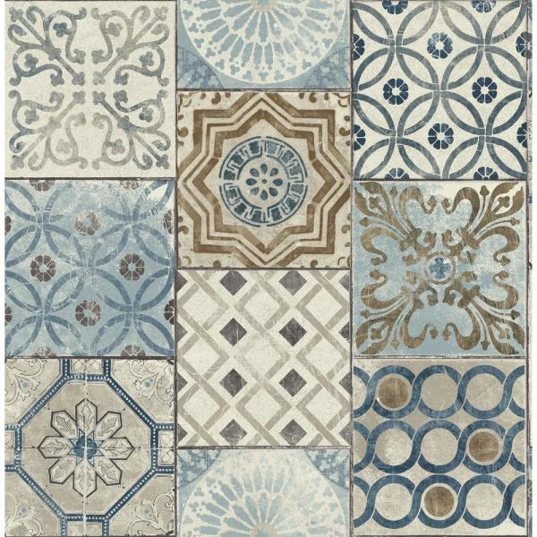 Nextwall Moroccan Tile Peel And Stick Wallpaper Nw30002 The Home Depot Stick On Tiles Patchwork Tiles Moroccan Tile
