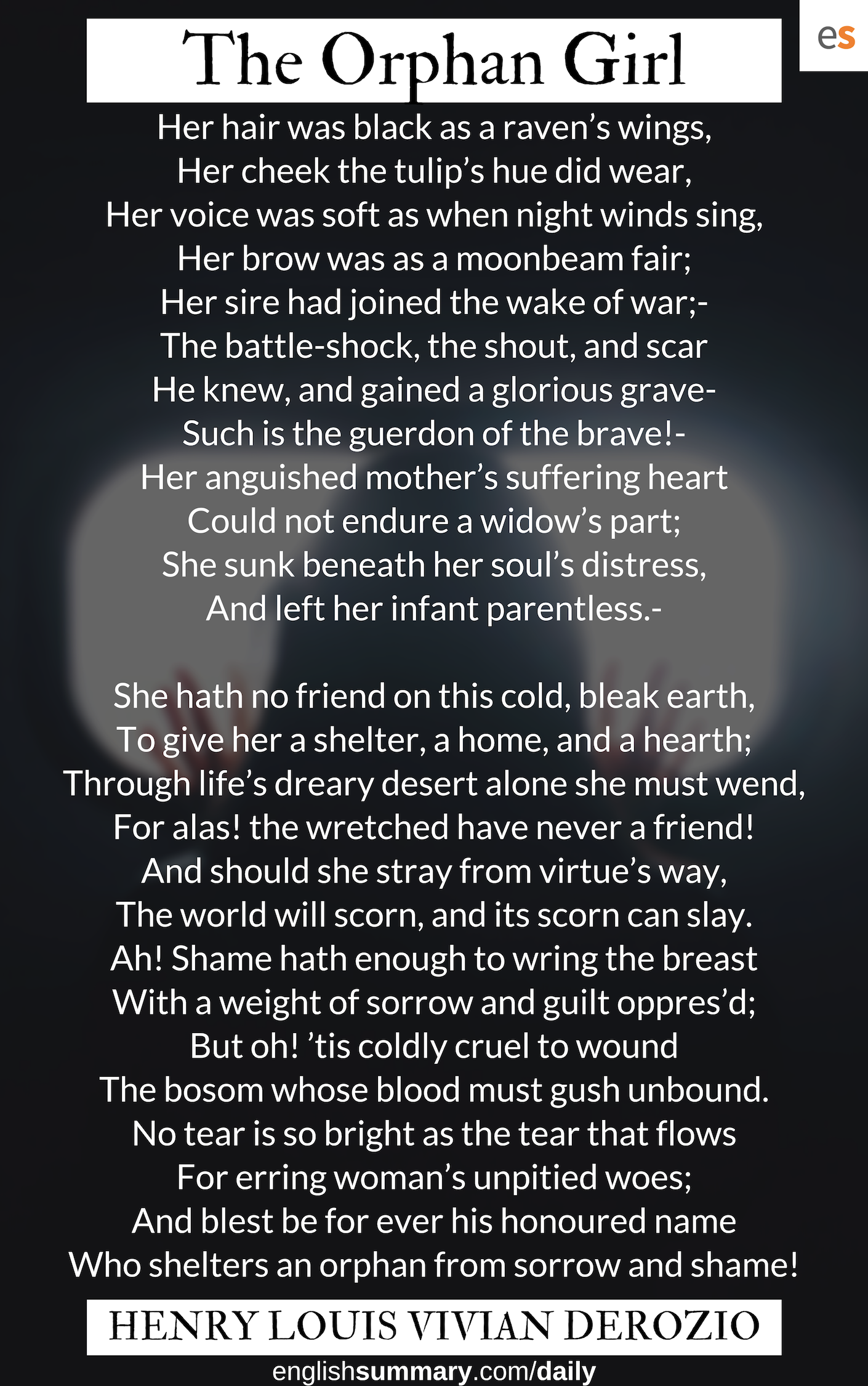Pin On Orphan Girl The Raven Poem Line By Explanation