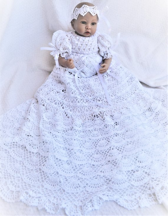 BAC Baby Crochet Christening Gown Pattern Christening Dress Impressive Crochet Christening Gown Pattern