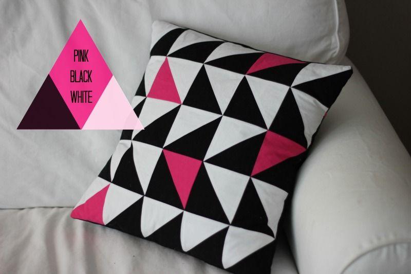 Kissen Selber Nähen, Patchwork Dreiecke, Kartoffeldruck, Stoff Bedrucken,  Kissenhüllen Nähen, Hotelverschluss Nähen