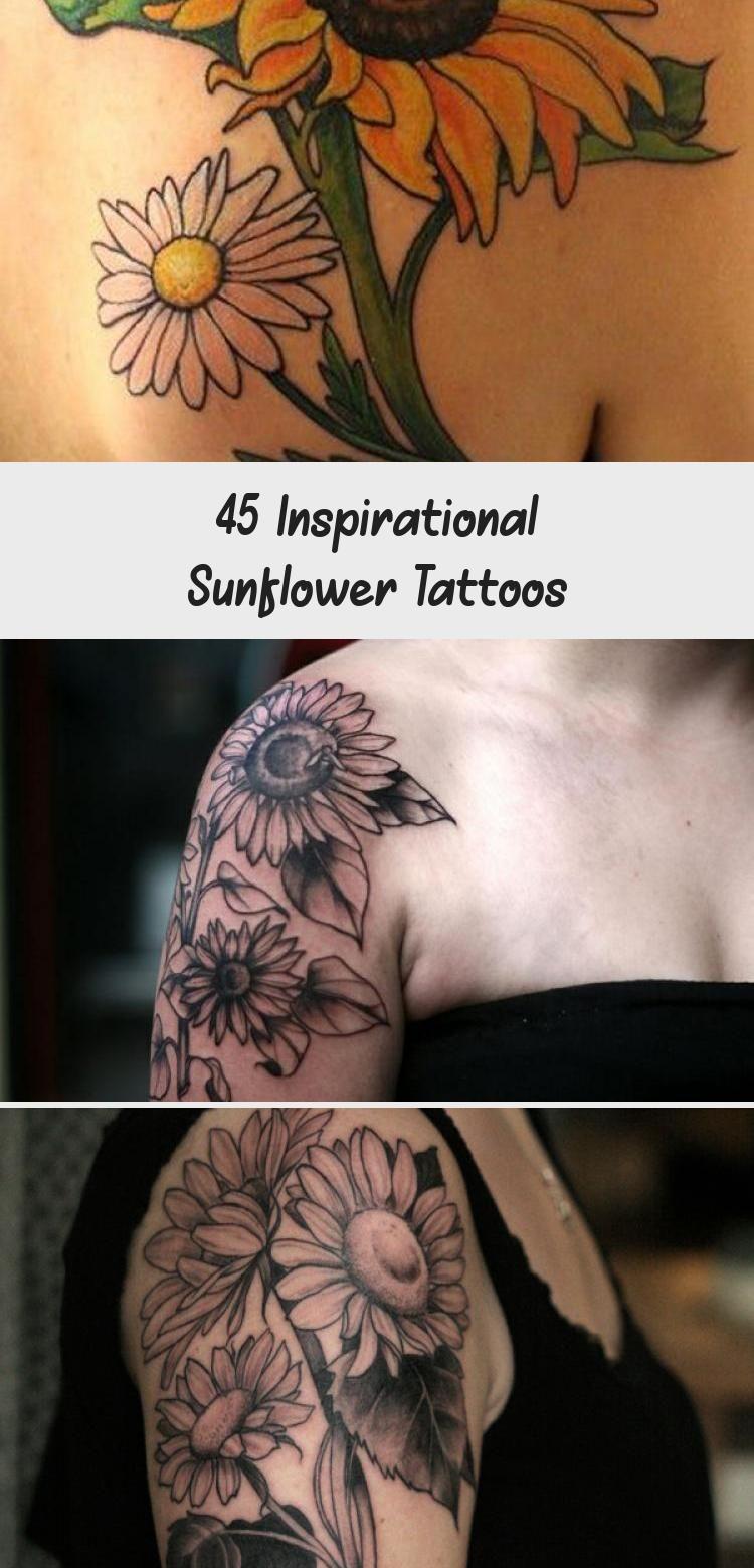 Photo of sunflower tattoo – 45 Inspirational Sunflower Tattoos #Vintagesunflowertattoos #…