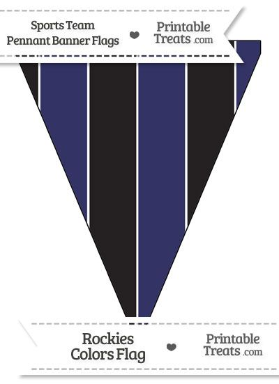 Rockies Colors Pennant Banner Flag from PrintableTreats.com