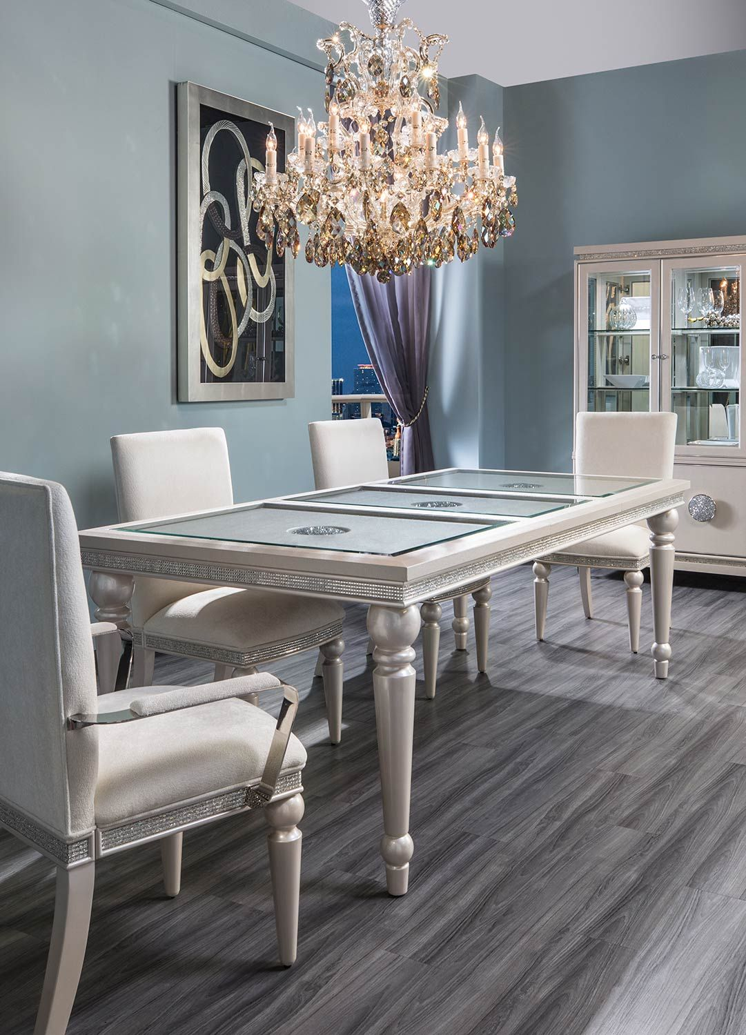 Glimmering Heights 5 Piece Formal Dining Set Dining Room Design