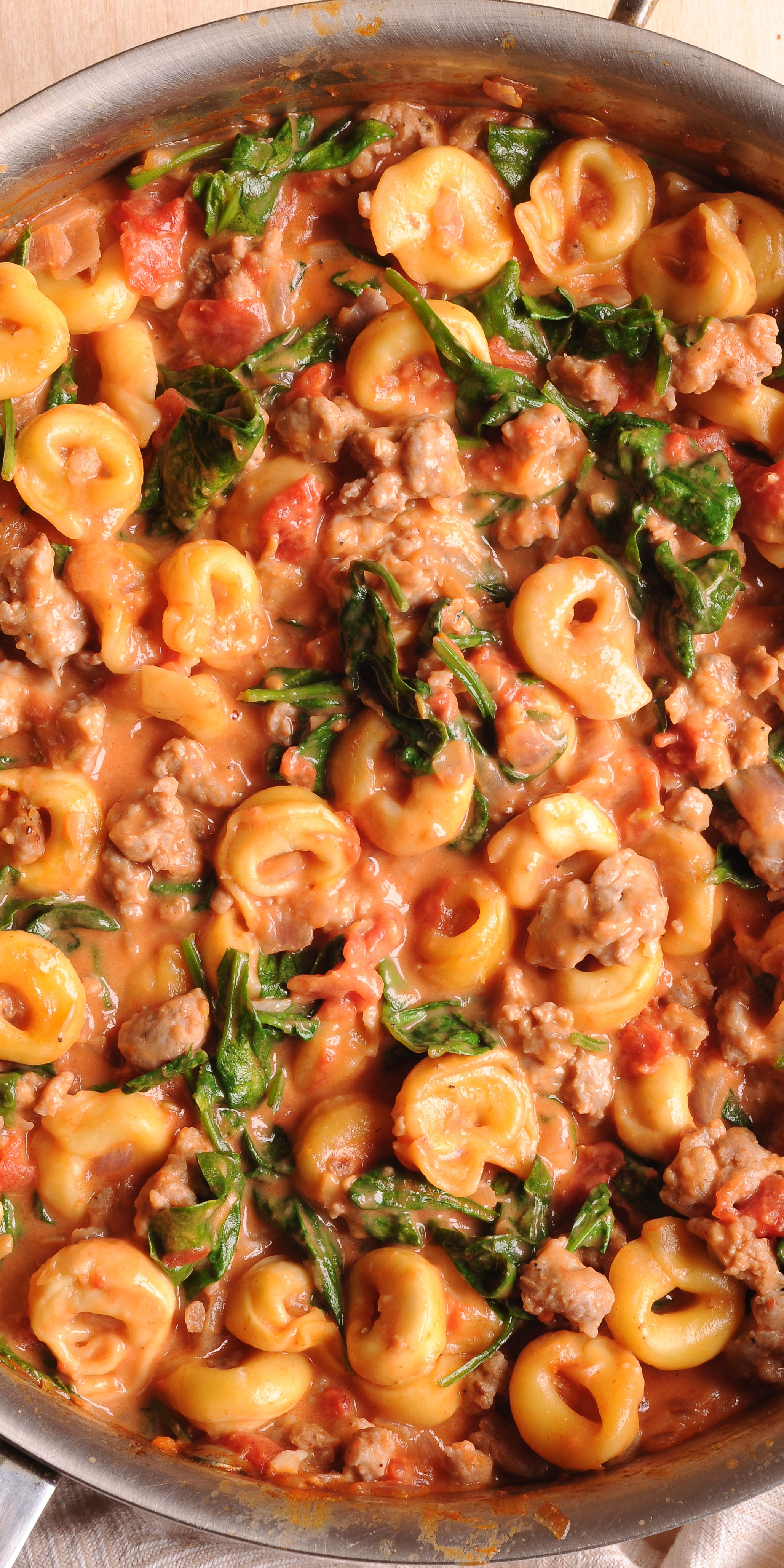 Creamy Tortellini With Sausage Tortellini Recipes Recipes Pasta Dishes