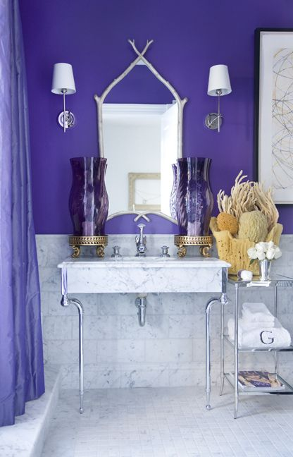 A Bathroom Is A Great Space To Experiment With Bold Rich Colors