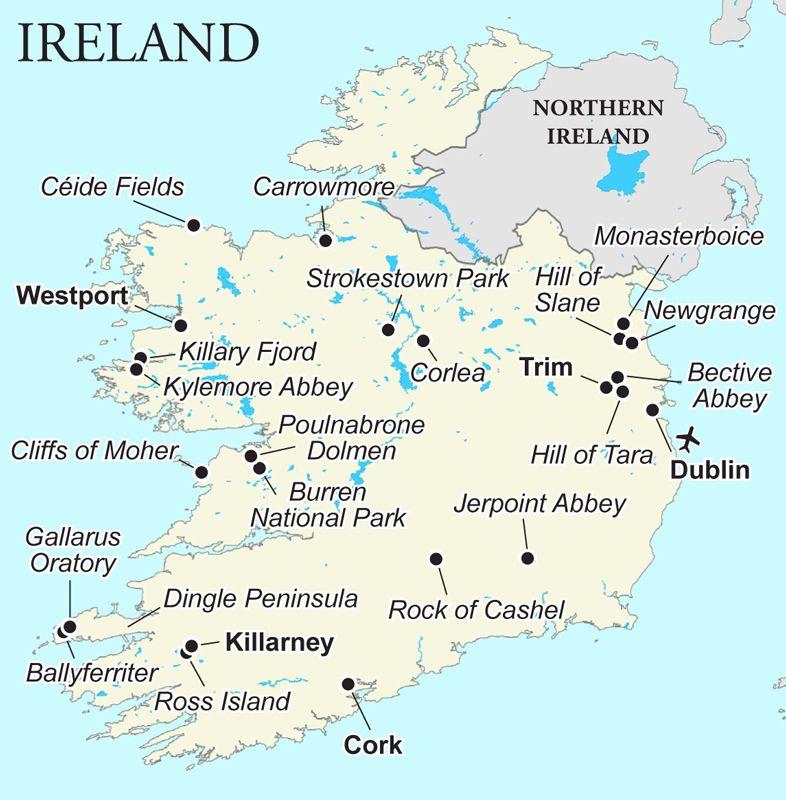 Map Of Ireland Newgrange.Amidst The Splendid Natural Beauty Of Ireland S Landscapes