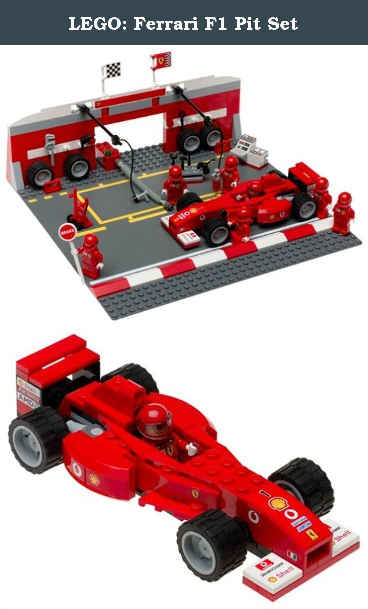 lego: ferrari f1 pit set. build your own ferrari and get ready to