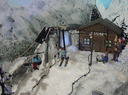 Christmas Village Ski Lift.Skilift Inspiratie Christmas Villages Christmas Deco