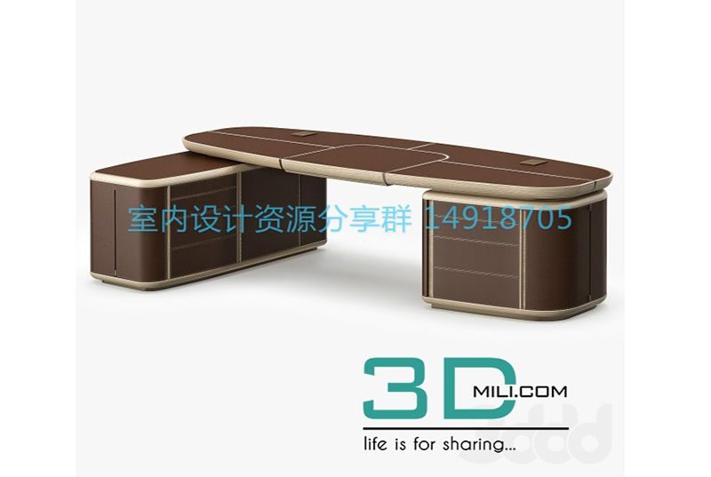 Tycoon Desk (With images) Desk, 3d model, Model