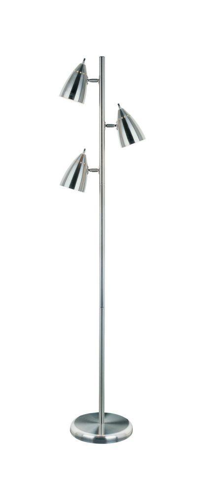 3 Light Floor Lamp Pleasing 3 Light Floor Lamp Steel Finish  Lighting  Pinterest  Kitchen Design Inspiration