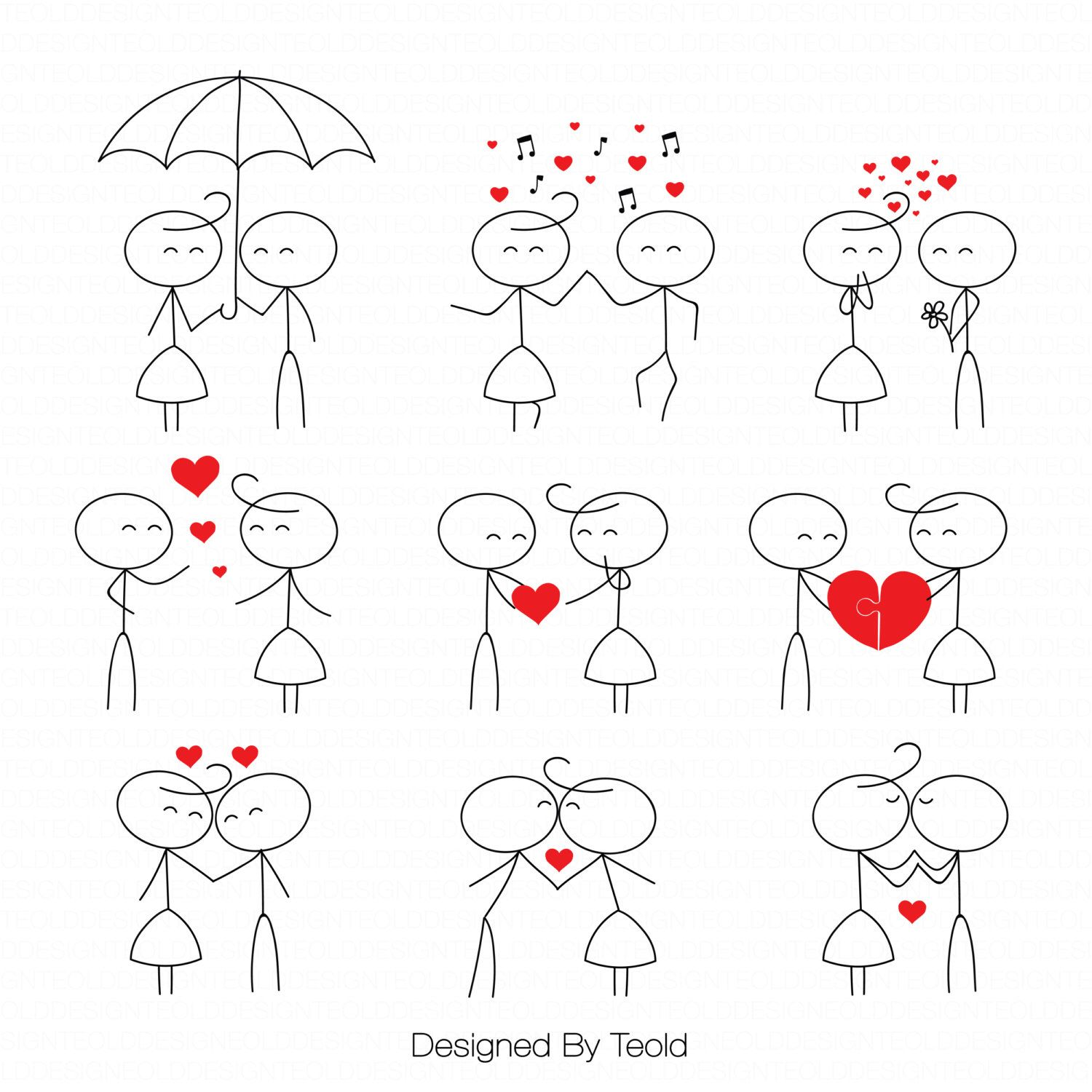 Stick Figure Clipart Clip Art Stick People Couple Clipart - Cartoon stick people clip art