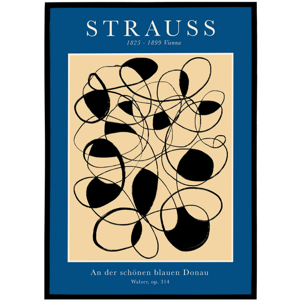 Strauss Poster Print 1825 1899 In 2020 Poster Prints Geometric Poster Poster