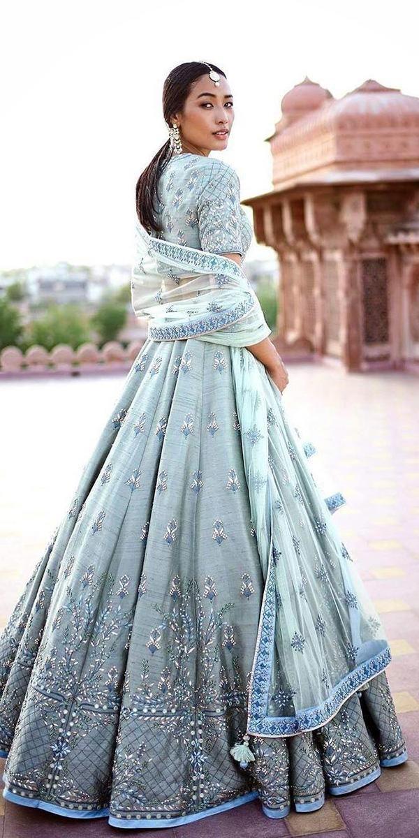 Indian Wedding Dresses: 21 Exciting Fusion Ideas ★ #bridalgown #weddingdress