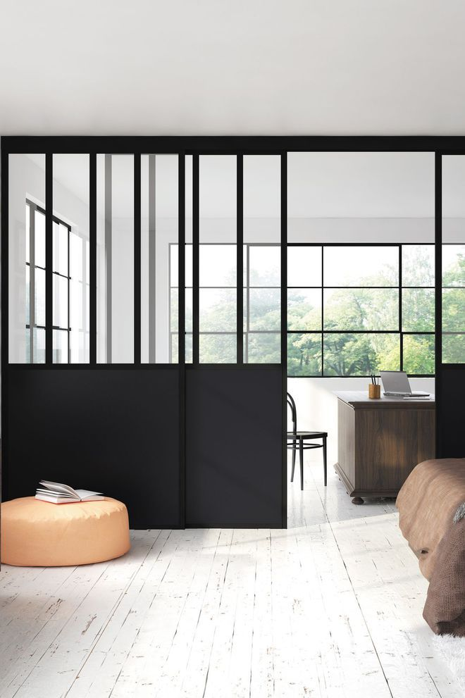 une verri re avec porte coulissante verriere by chez. Black Bedroom Furniture Sets. Home Design Ideas