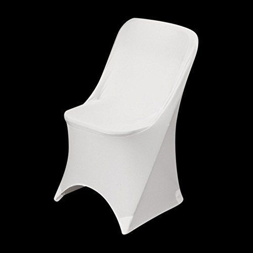 Outstanding Springrose 50 Ecoluxe White Scuba Spandex Stretch Folding Caraccident5 Cool Chair Designs And Ideas Caraccident5Info