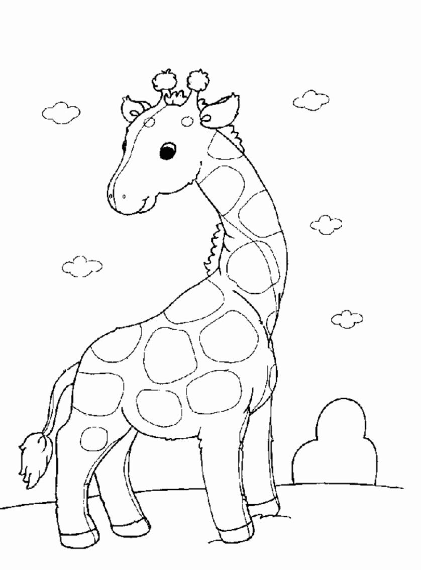 Printable Giraffe Coloring Pages For Kids