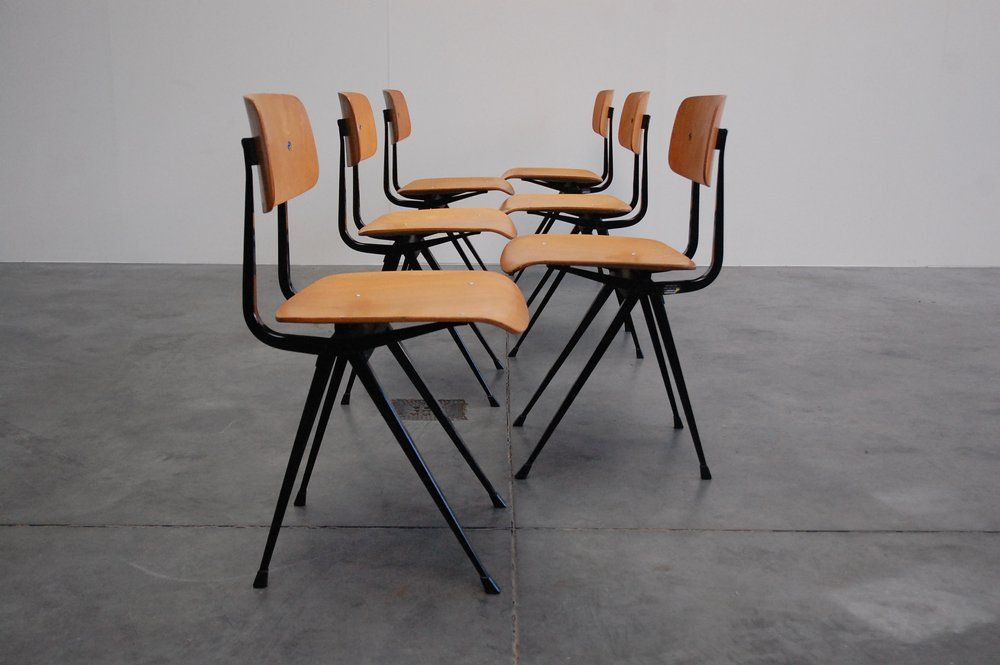 Superieur Authentic Compass Side Chairs By Friso Kramer.