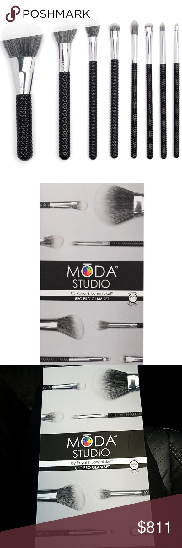 Moda studio 8 piece pro glam makeup face brush set MŌDA