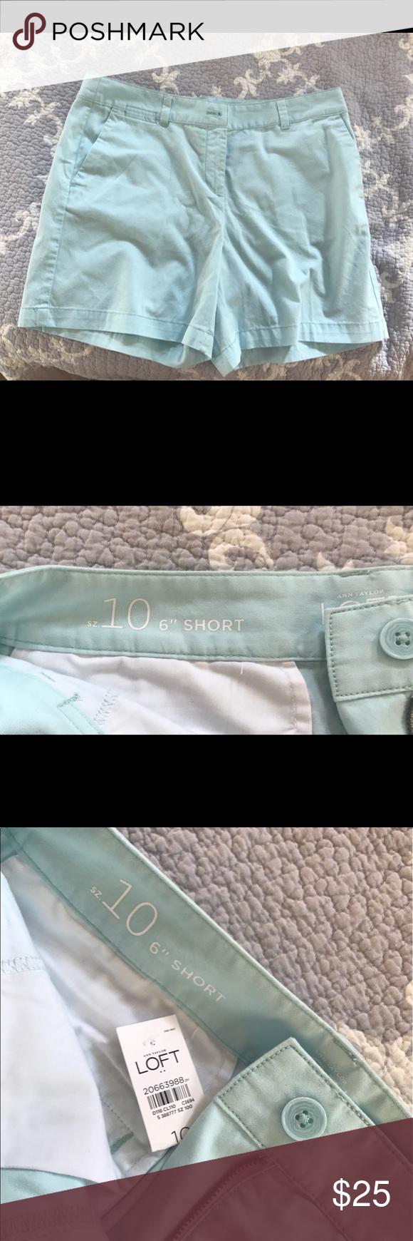 Ann Taylor loft shorts Beautiful Ann Taylor Loft light pastel blue 6 inch shorts. LOFT Shorts