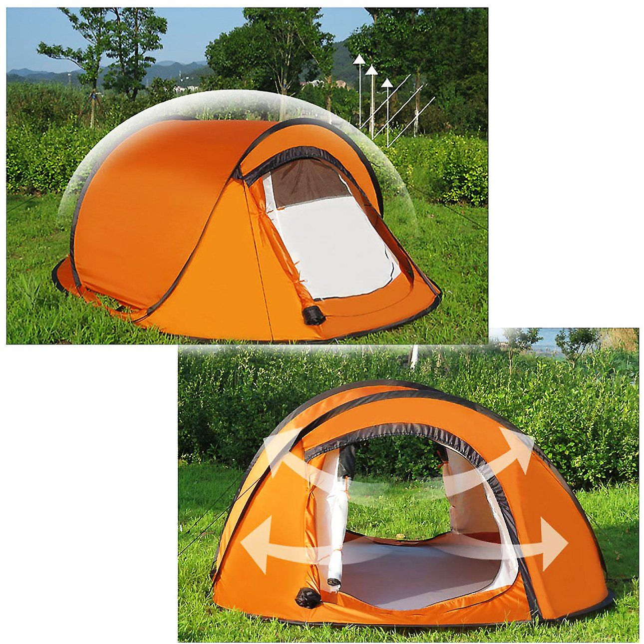 Sandm Automatically Camping Tent 2 Seconds To Open The Tent Fully Automatic 3 Person Tent Outdoor Camping Gear With Outdoor Camping Gear Backpacking Tent Tent
