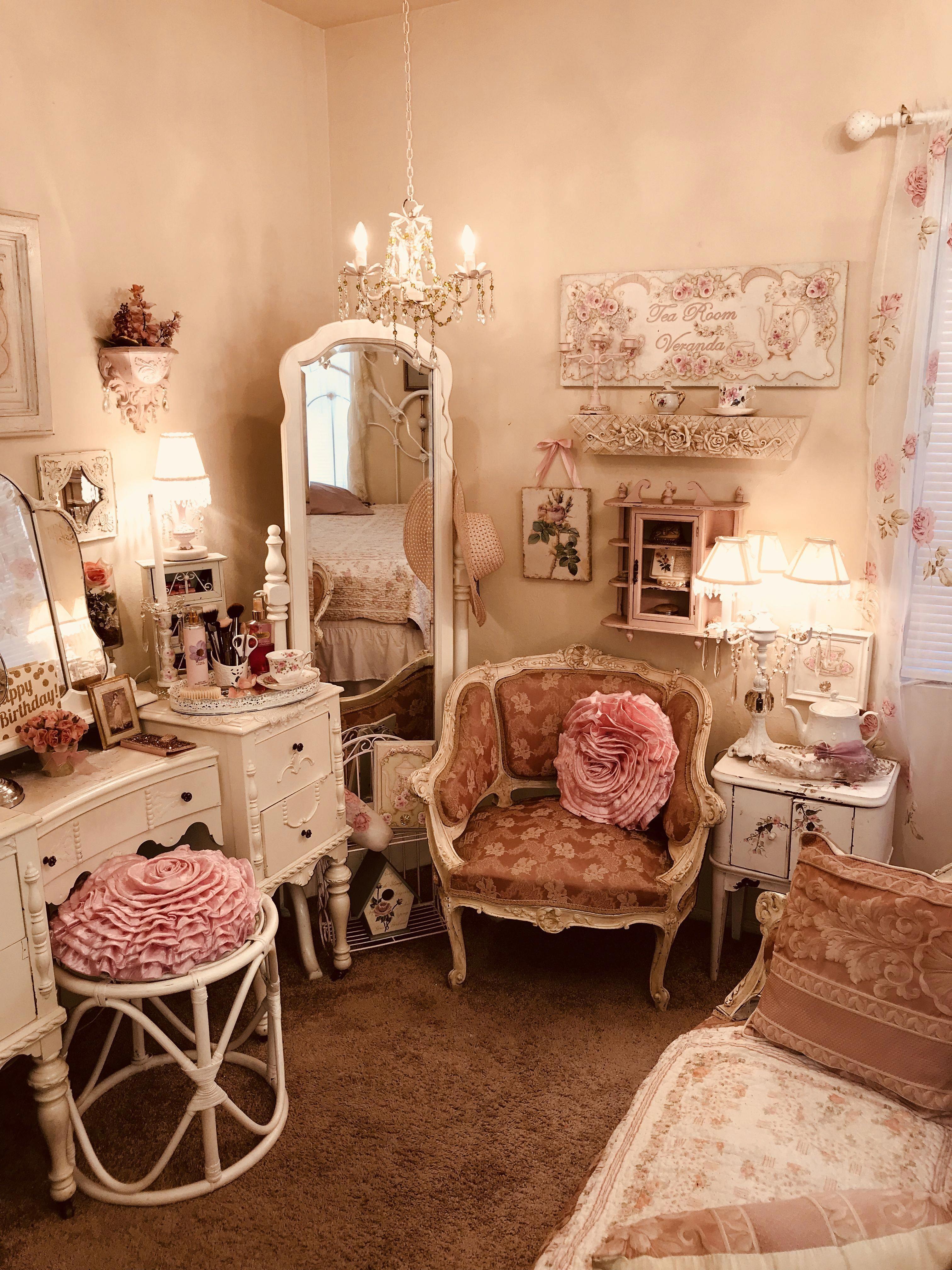 Romantic Vintage Floral Tea Rose Cotton Patchwork Quilt ...