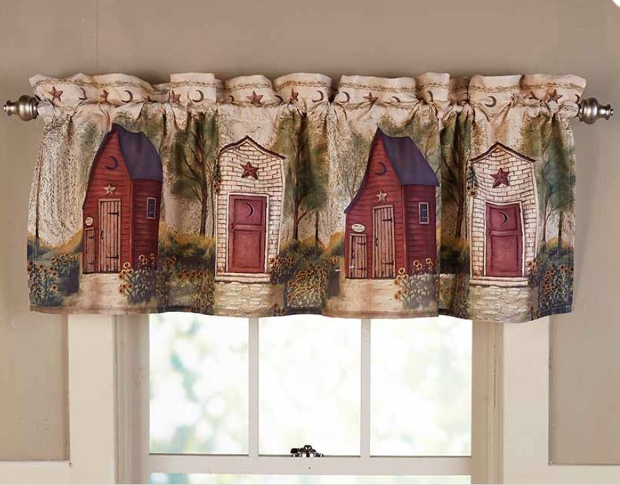 Excellent Rustic Country Window Valance Curtain Bathroom Decorating Download Free Architecture Designs Estepponolmadebymaigaardcom