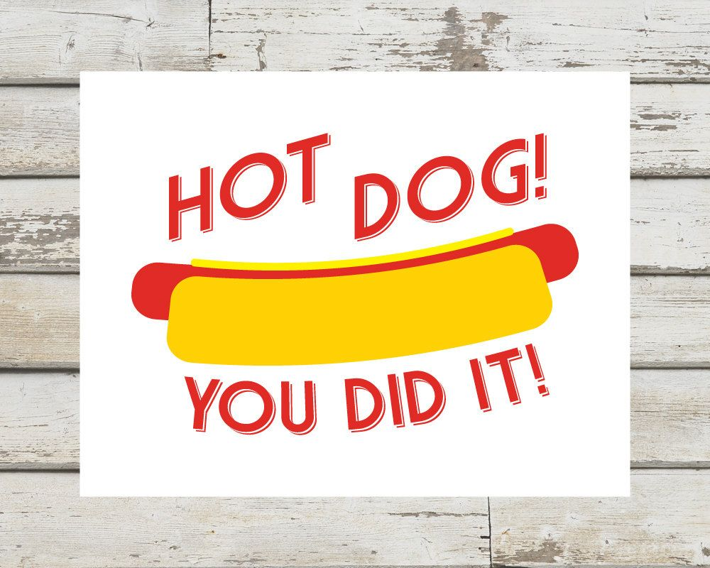 Hot Dog You Did It Congratulations Card Funny Congrats Etsy Congratulations Card Congrats Card Congrats