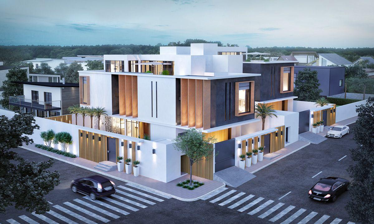 Modern house 14110 on Behance