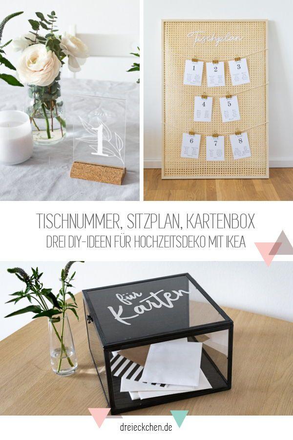 DIY und Deko-Ideen zur Hochzeit mit IKEA: Sitzordnung, Tisch-Nummern und Briefe-Box #dreimalanders // Werbung › dreieckchen – Lifestyle Blog #dreimalanders
