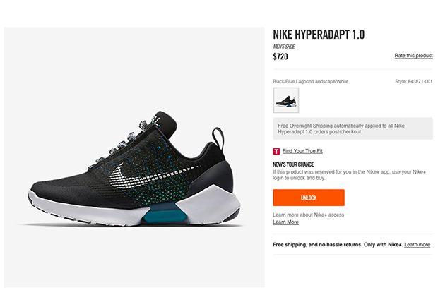 #sneakers #news Nike HyperAdapt 1.0 Available Through Nike Unlock