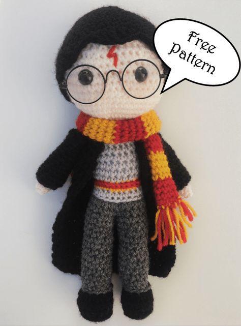 Harry Potter Free Amigurumi Pattern Crochet Pattern #amigurumifreepattern