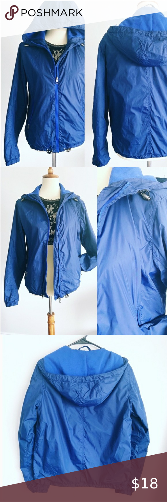 H M L O G G Full Zip Waterproof Rain Jacket Cobalt Blue Rain Jacket From H M L O G G Brand Is Waterproof P Waterproof Rain Jacket Blue Rain Jacket Rain Jacket