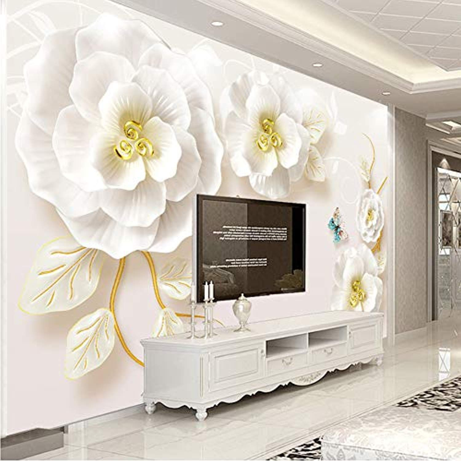 Meaosy Custom Photo Wallpaper Murals 3d Embossed Rose Living Room Tv Background Wall Painting Non Wallpaper Living Room Wall Decor Living Room Living Room Wall