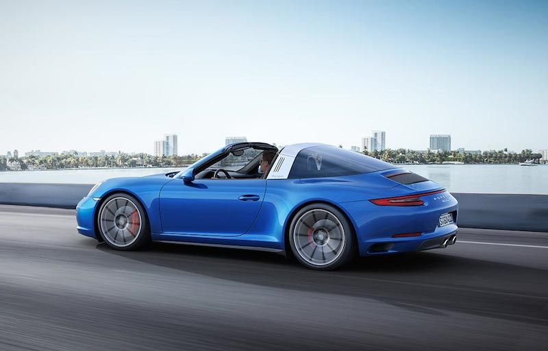 Porsche Gives The New 3 0 Liter Turbo Engine All Wheel Drive With The New 2017 Carrera 4 And Targa 4 Models Porsche 911 Targa 4s Porsche 911 Targa Porsche 911