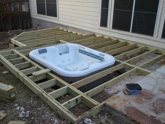 In Ground Hottub In Ground Hot Tub Yelp Back Yard Ideas Pinterest Hot Tubs Tubs And